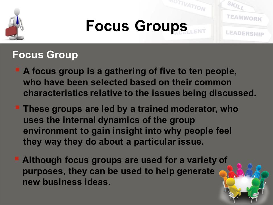 Focus Groups Focus Group