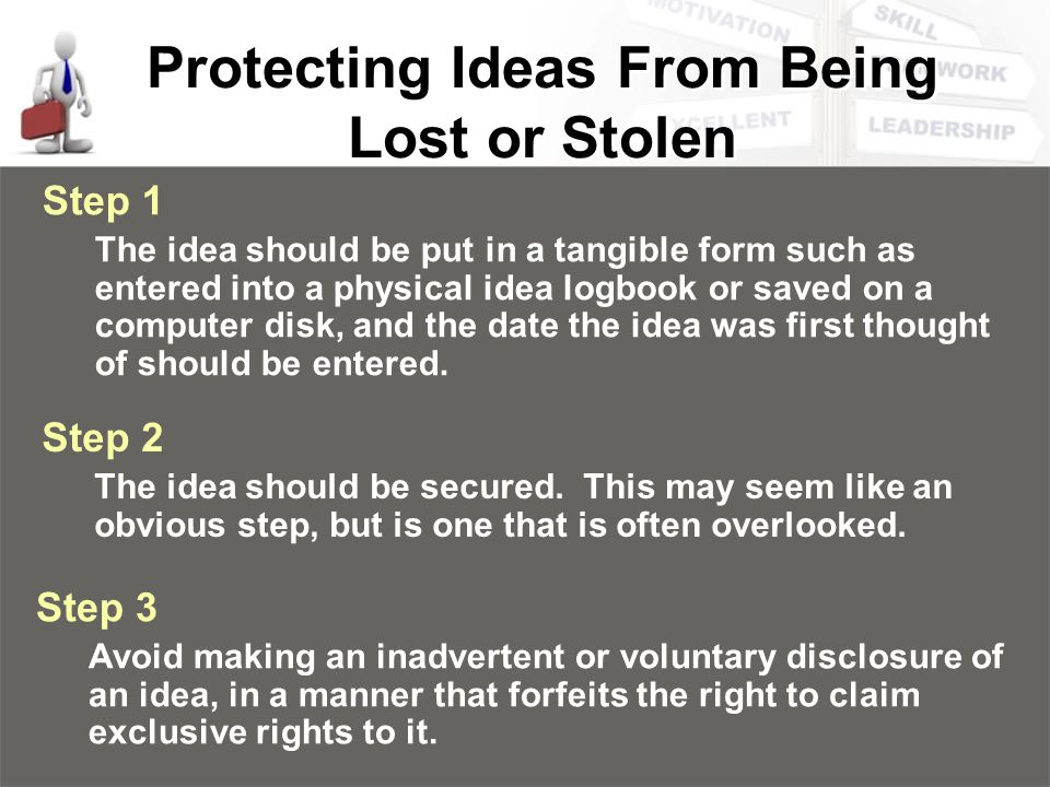 Protecting Ideas From Being Lost or Stolen