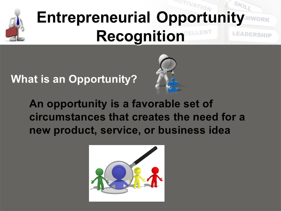 Entrepreneurial Opportunity Recognition