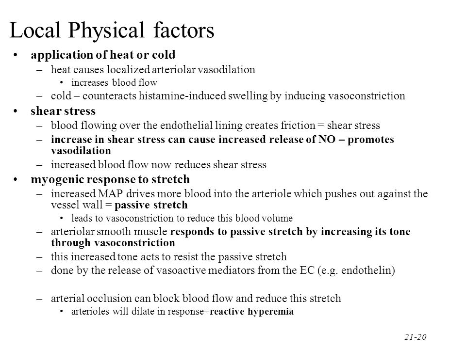 Local Physical factors