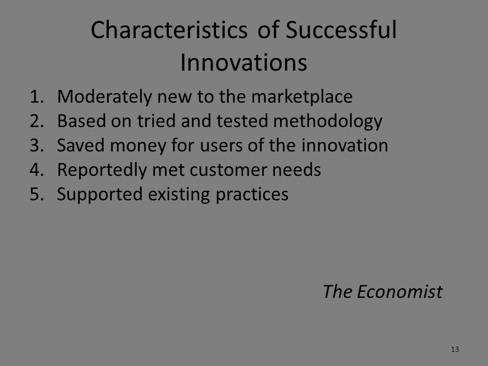 Characteristics of Successful Innovations