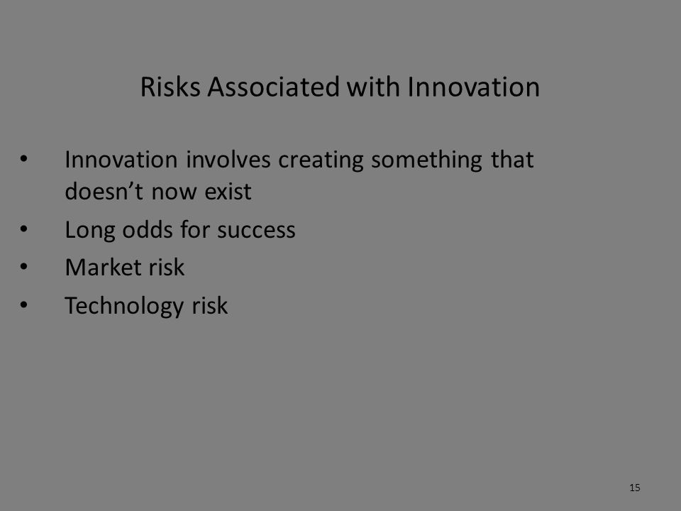 Risks Associated with Innovation