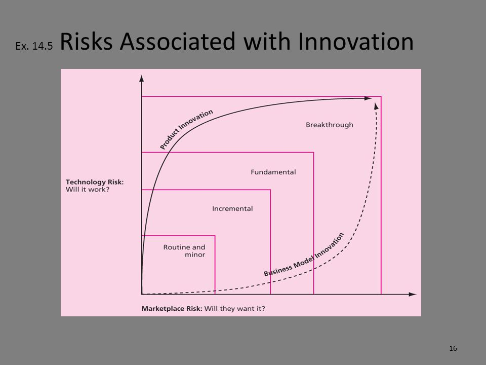 Ex. 14.5 Risks Associated with Innovation