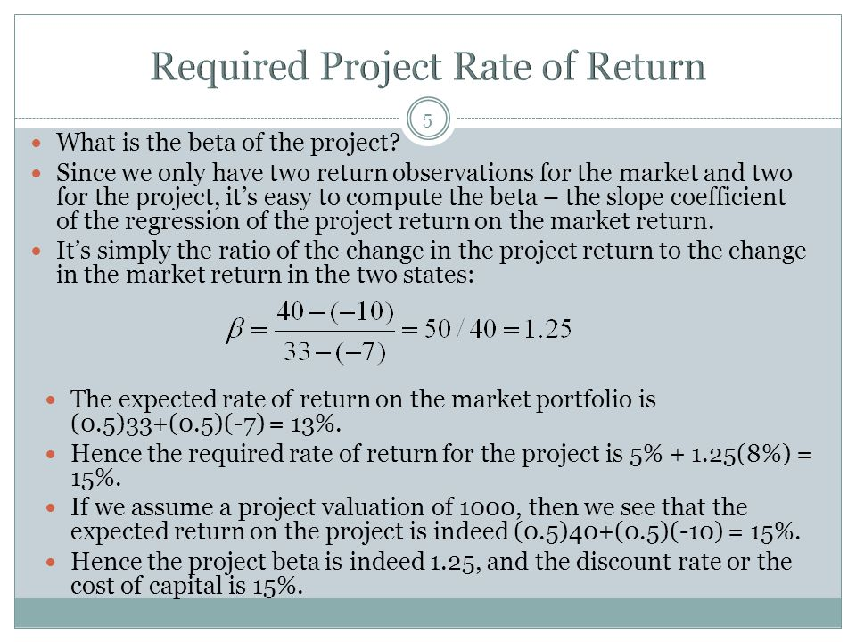 Required Project Rate of Return