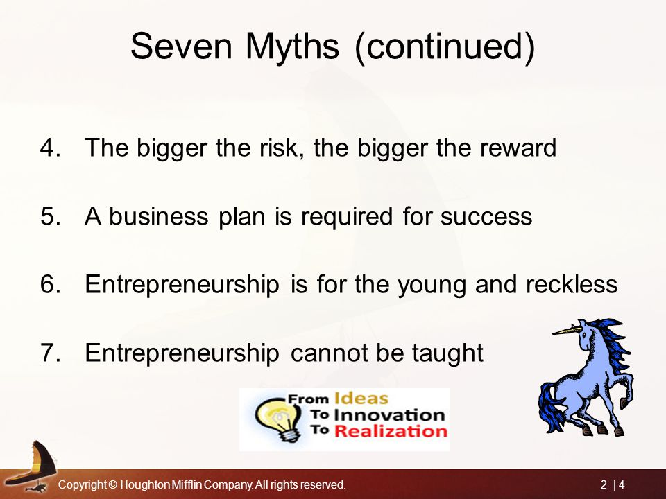 Seven Myths (continued)