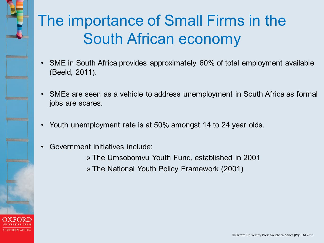 The importance of Small Firms in the South African economy