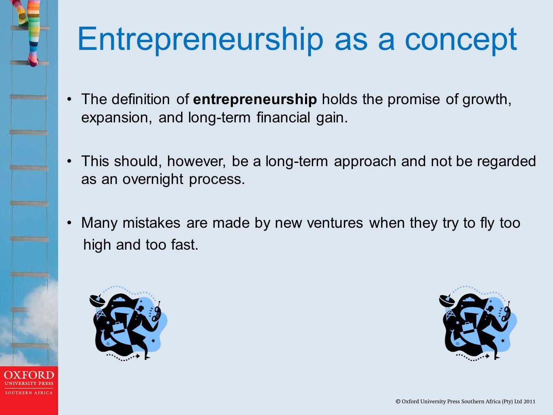 Entrepreneurship as a concept