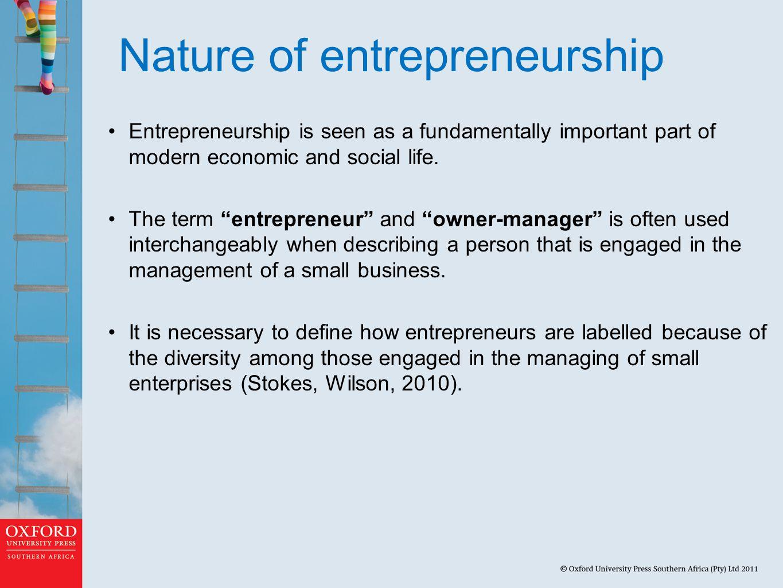 Nature of entrepreneurship