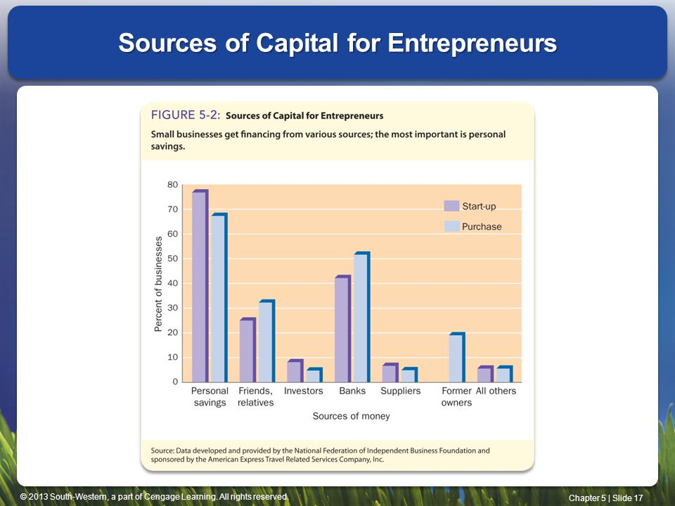 Sources of Capital for Entrepreneurs