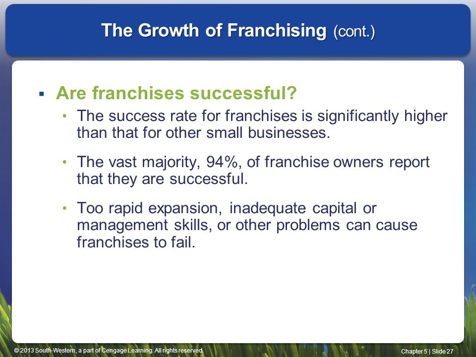 The Growth of Franchising (cont.)