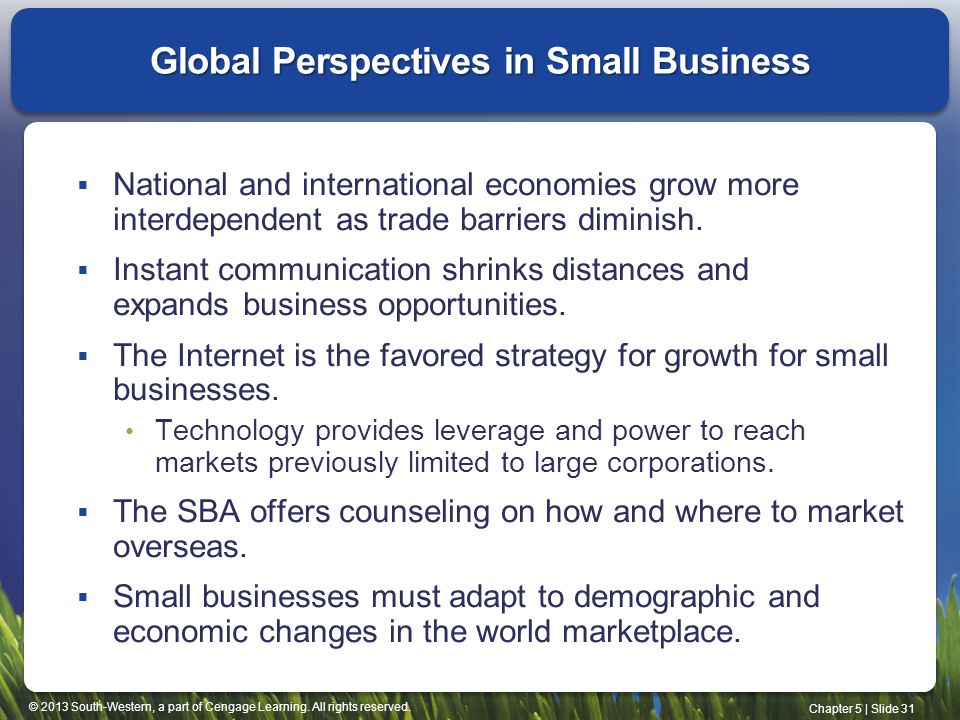 Global Perspectives in Small Business