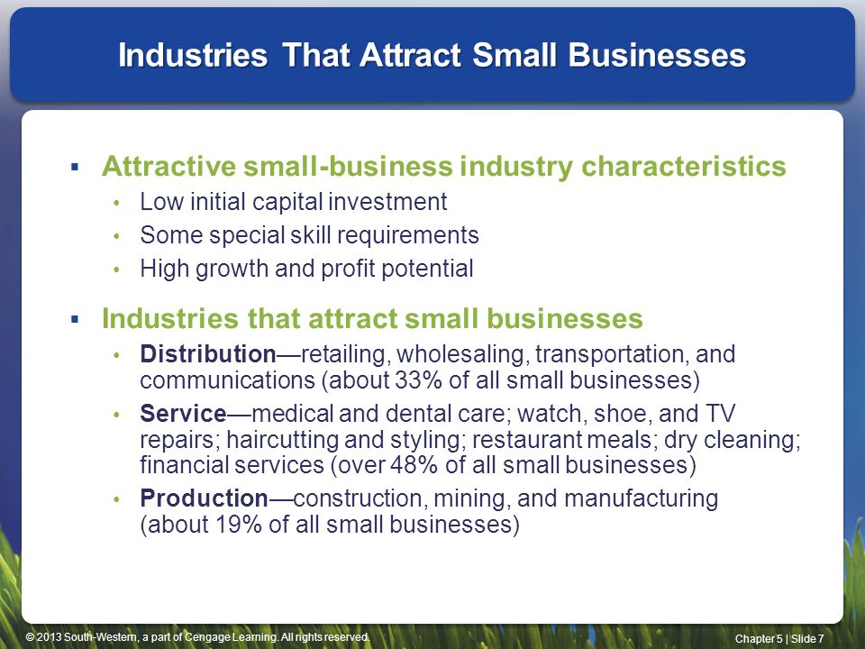 Industries That Attract Small Businesses
