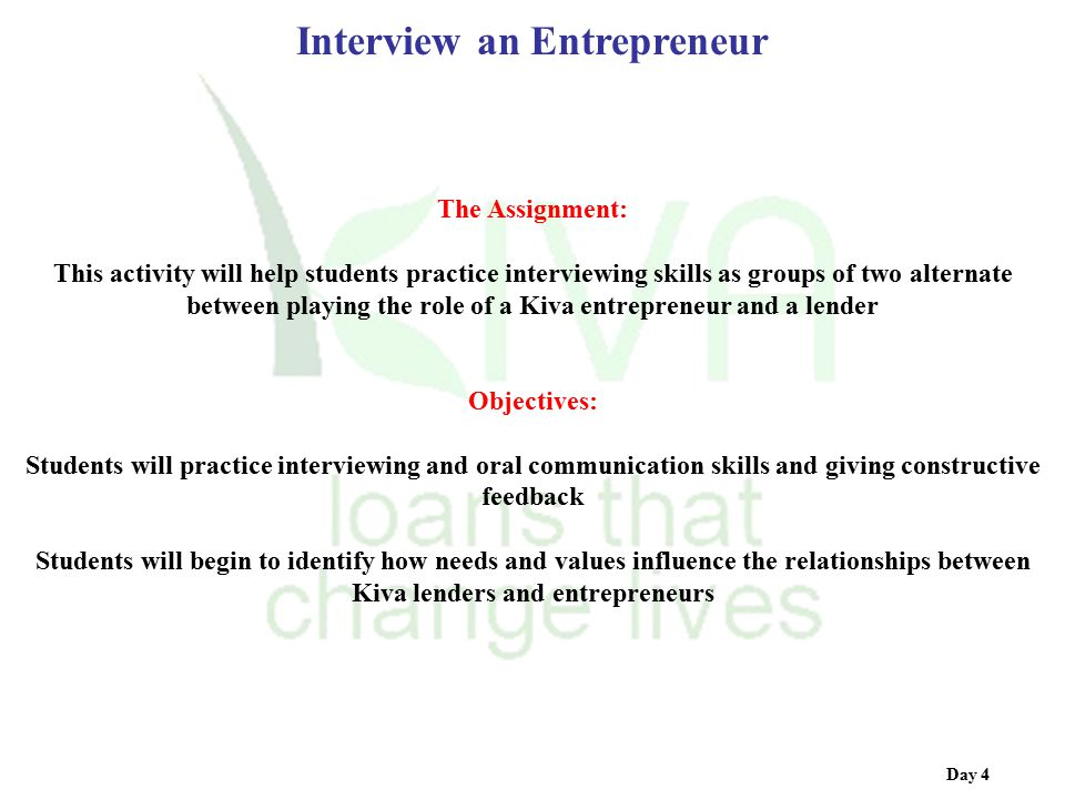 interview an entrepreneur Petit miracle hub entrepreneur interview meet morokot daniels what is your  background i used to own a company called via front which.