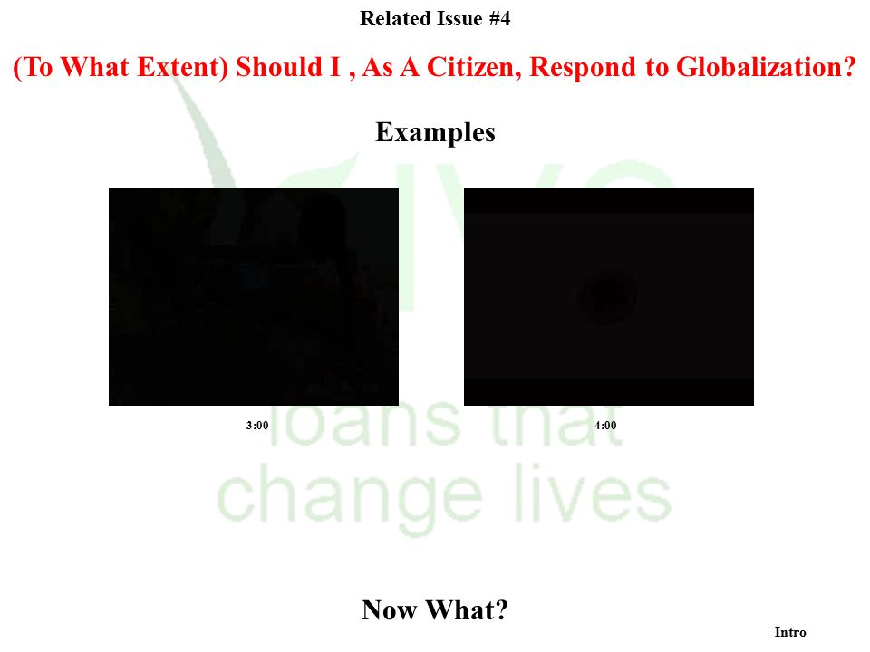 (To What Extent) Should I , As A Citizen, Respond to Globalization