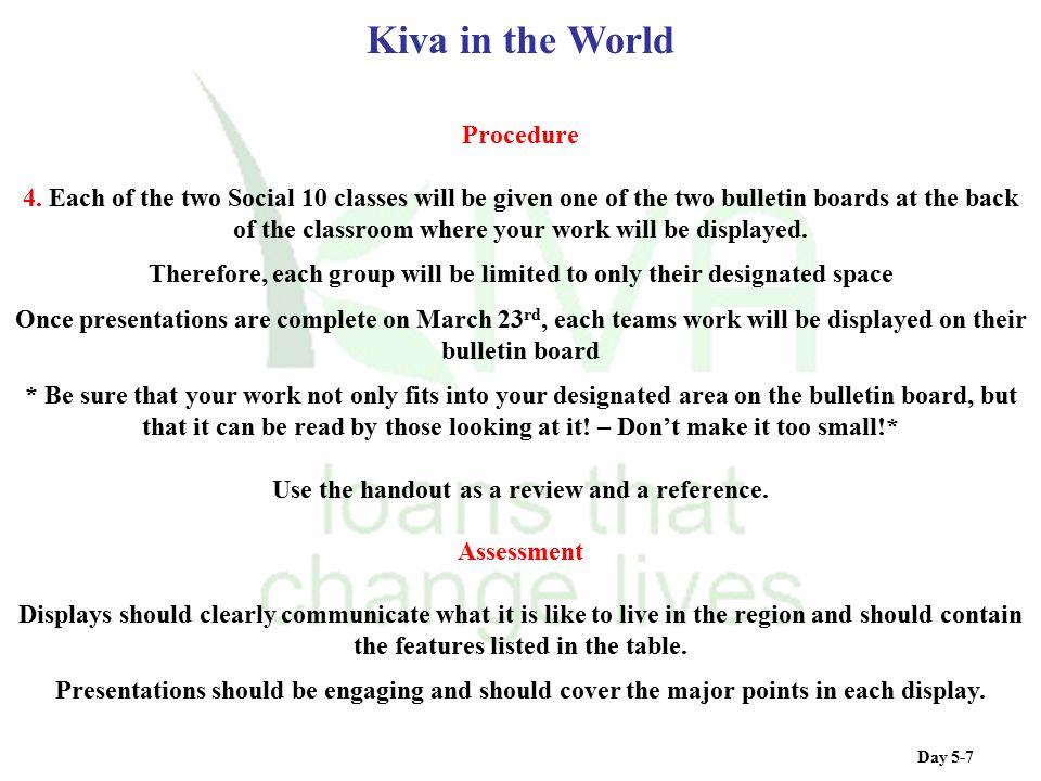 Kiva in the World Procedure