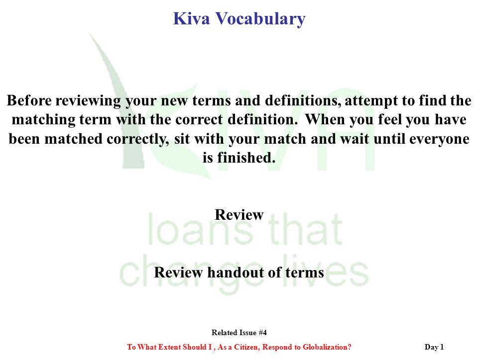 Kiva Vocabulary