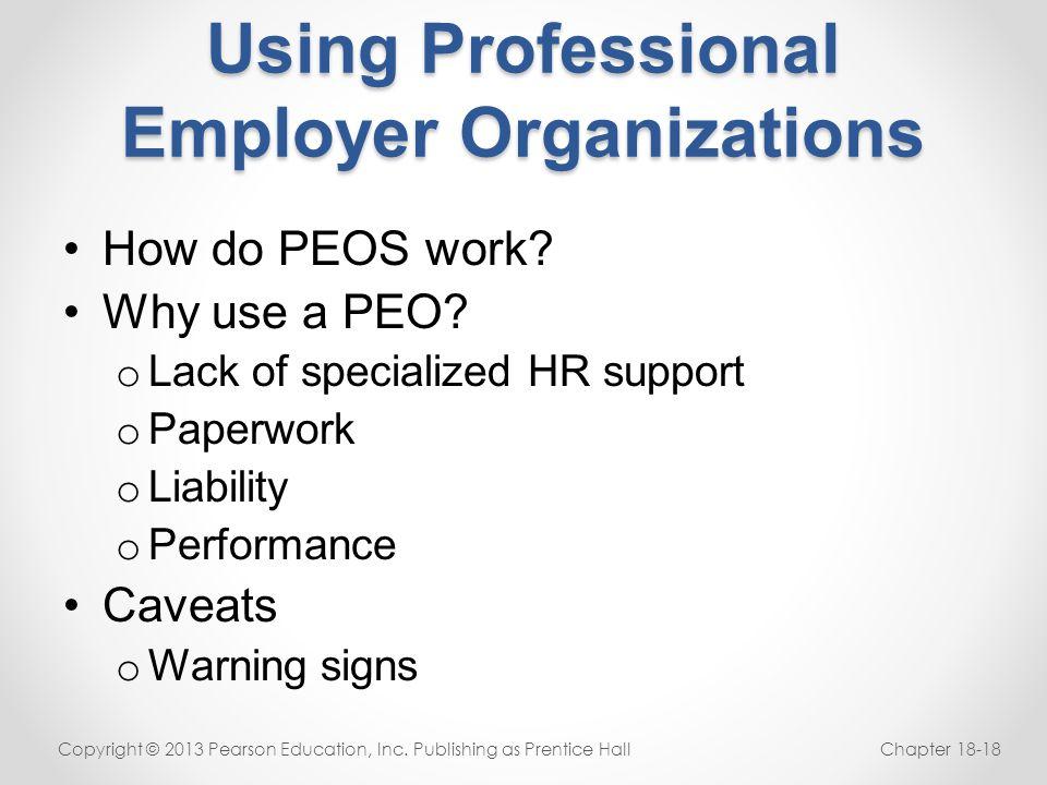 Using Professional Employer Organizations