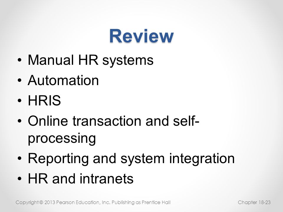 Review Manual HR systems Automation HRIS