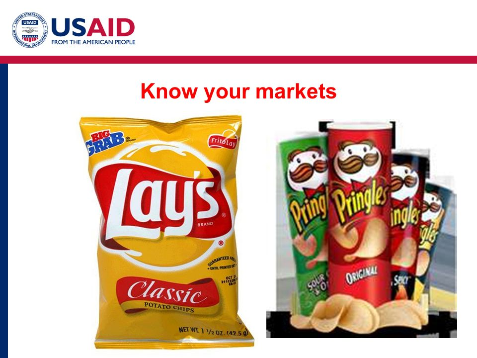 Know your markets