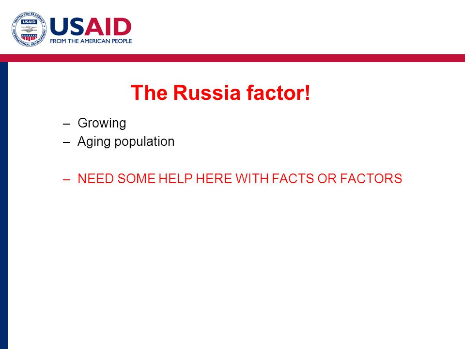 The Russia factor! Growing Aging population