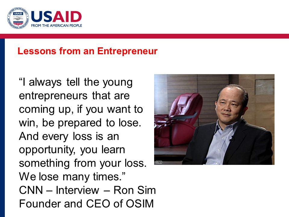 Lessons from an Entrepreneur