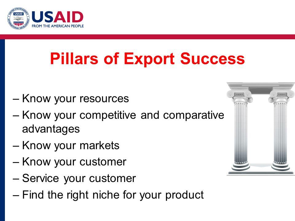 Pillars of Export Success