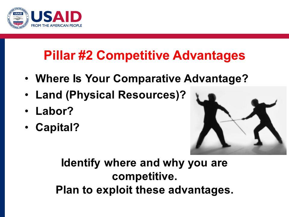 Pillar #2 Competitive Advantages