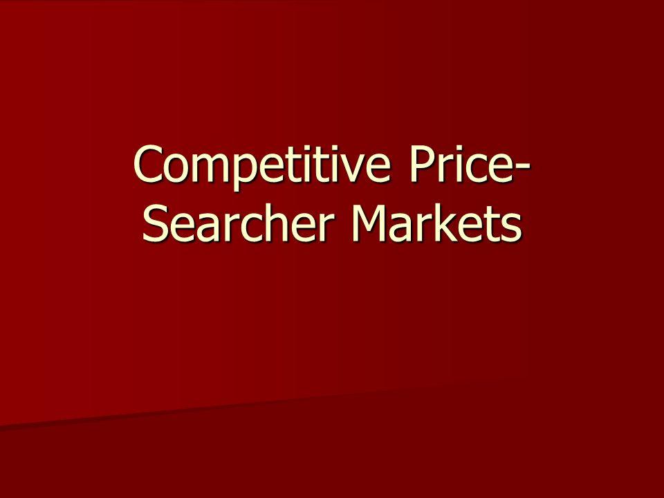 Competitive Price-Searcher Markets
