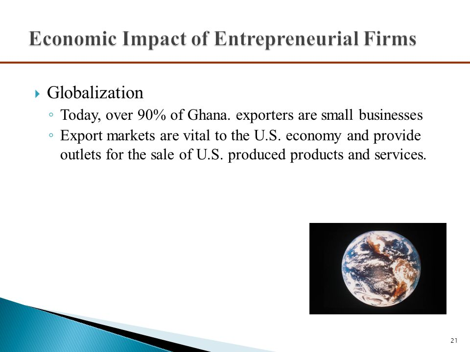 Economic Impact of Entrepreneurial Firms