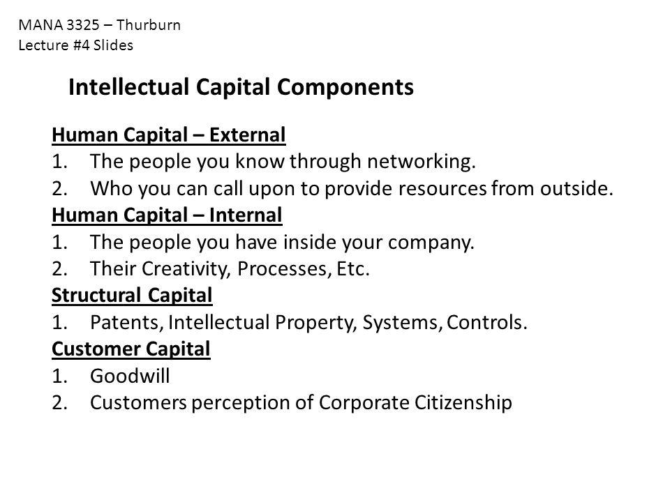 Intellectual Capital Components