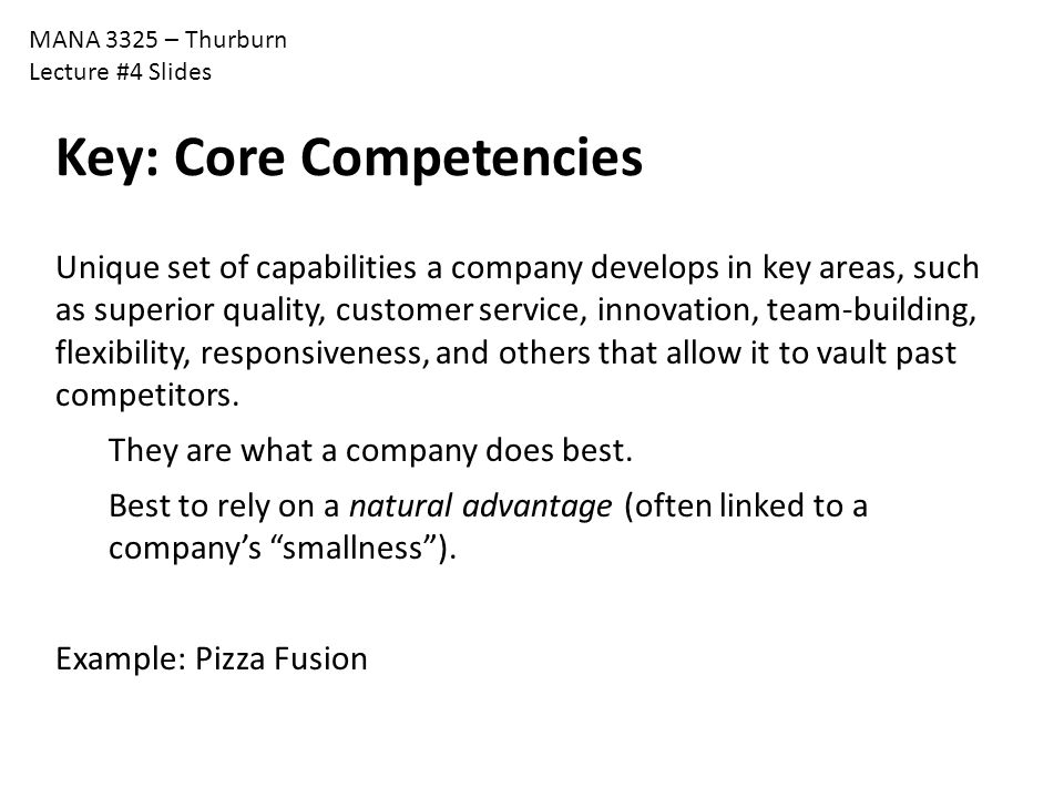 Key: Core Competencies