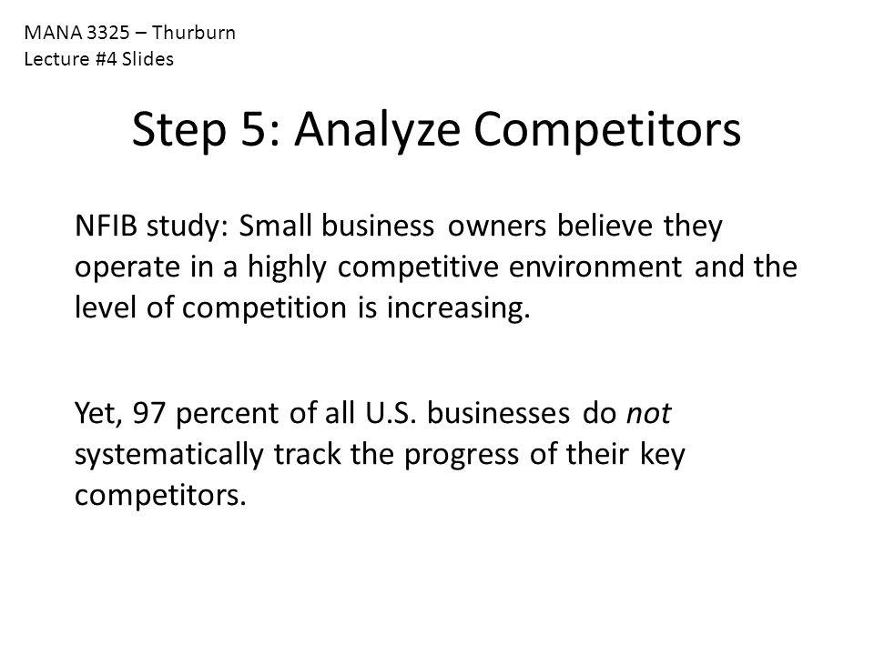Step 5: Analyze Competitors
