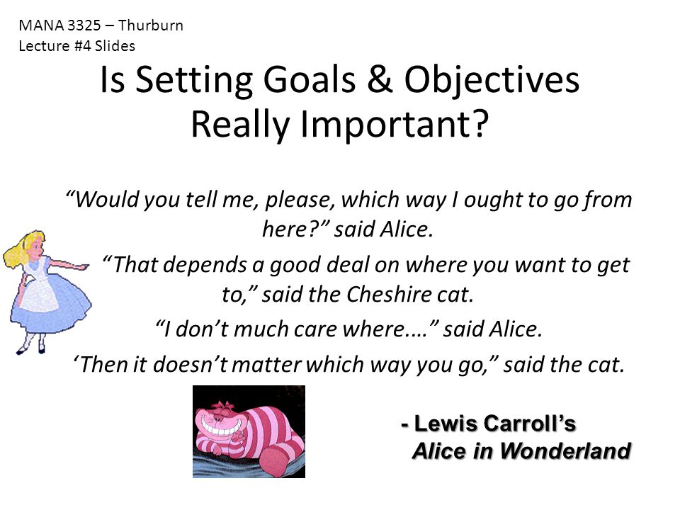 Is Setting Goals & Objectives Really Important