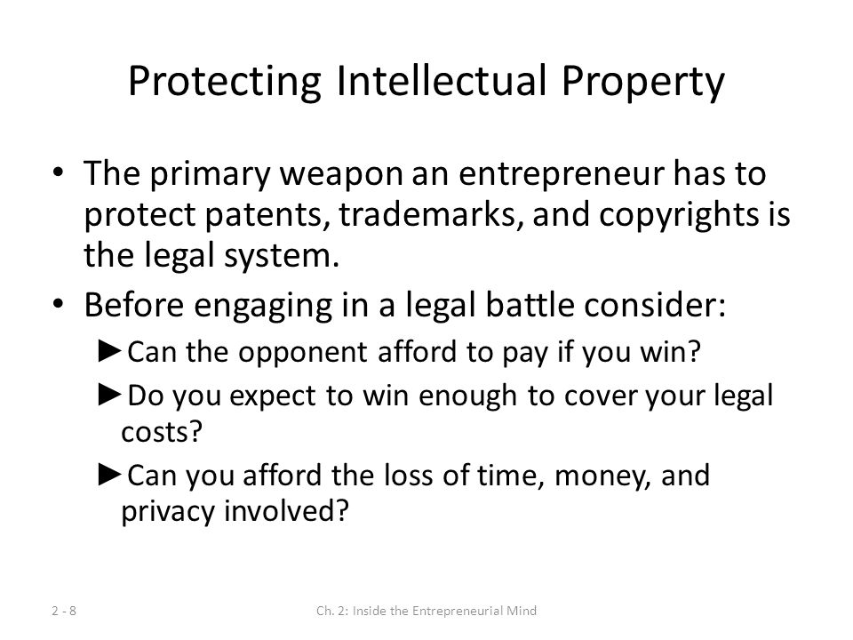 Protecting Intellectual Property