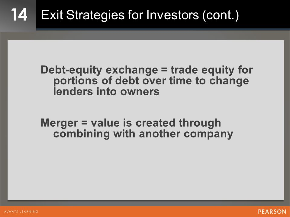14 Exit Strategies for Investors (cont.)