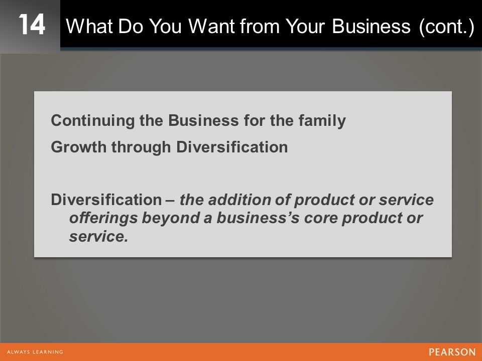 14 What Do You Want from Your Business (cont.)