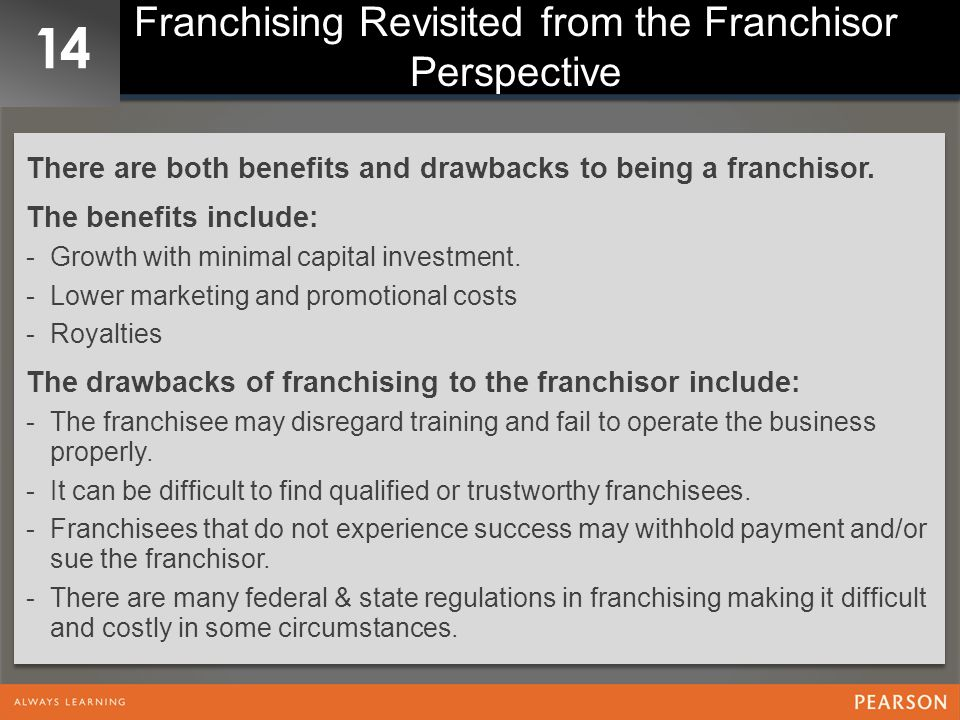 Franchising Revisited from the Franchisor Perspective