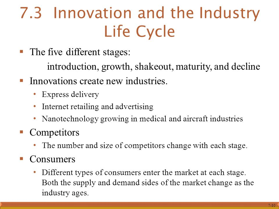 7.3 Innovation and the Industry Life Cycle