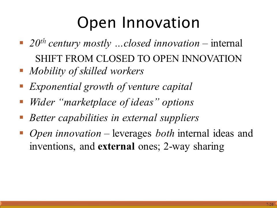 SHIFT FROM CLOSED TO OPEN INNOVATION
