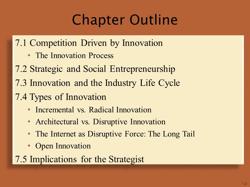 Chapter Outline 7.1 Competition Driven by Innovation