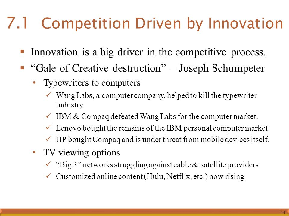 7.1 Competition Driven by Innovation