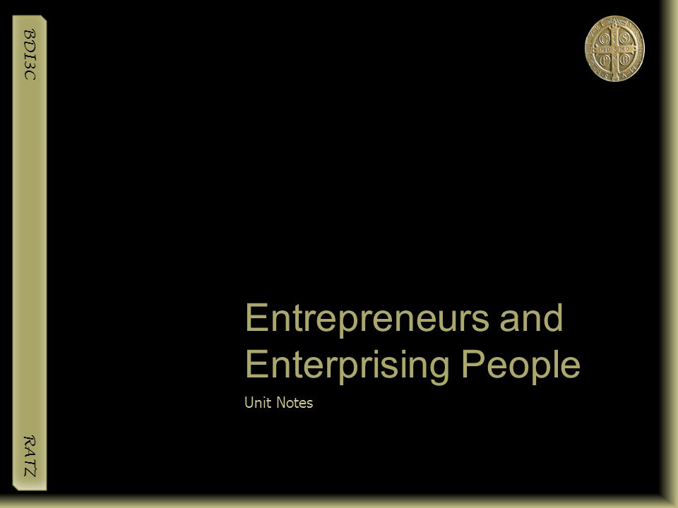 Entrepreneurs and Enterprising People