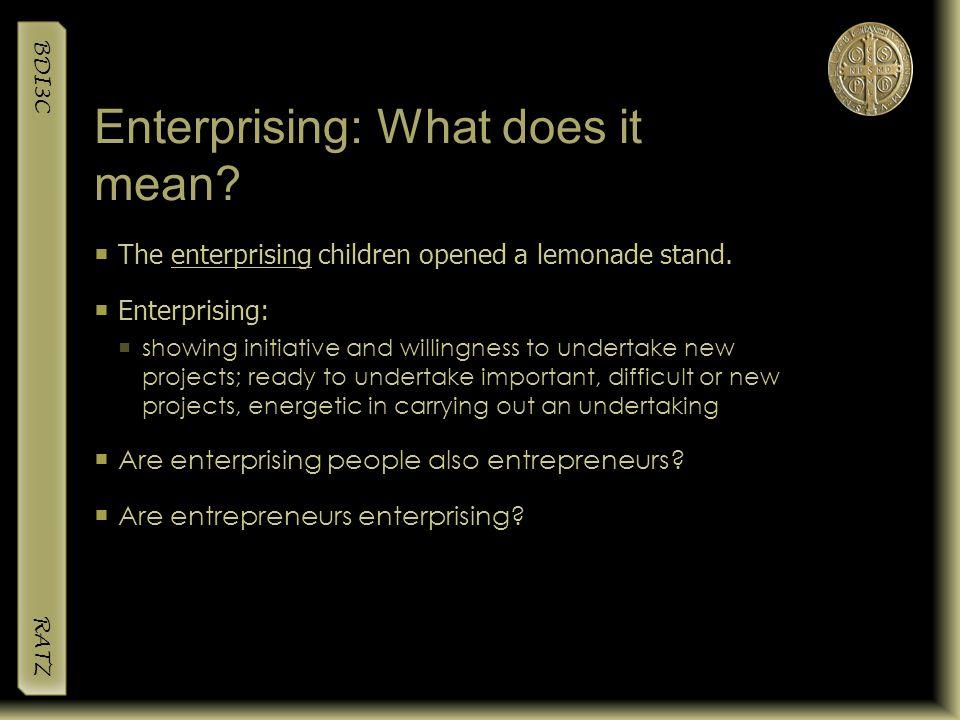 Enterprising: What does it mean