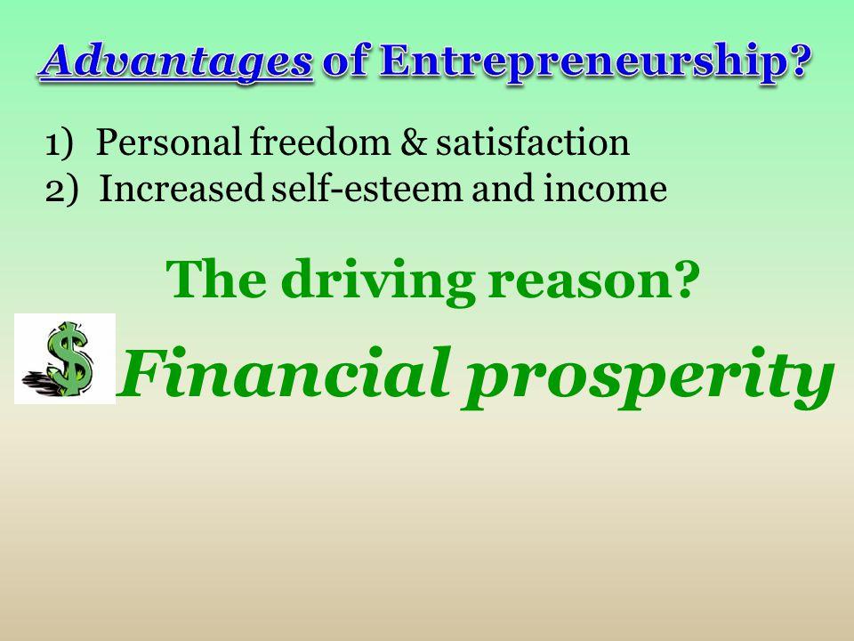 Advantages of Entrepreneurship