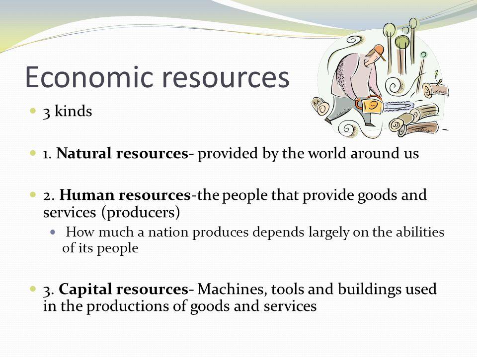 Economic resources 3 kinds