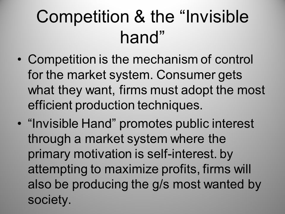 Competition & the Invisible hand