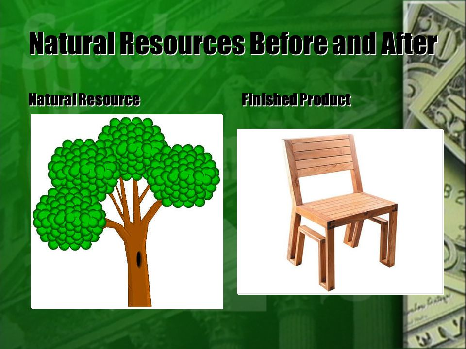 Natural Resources Before and After