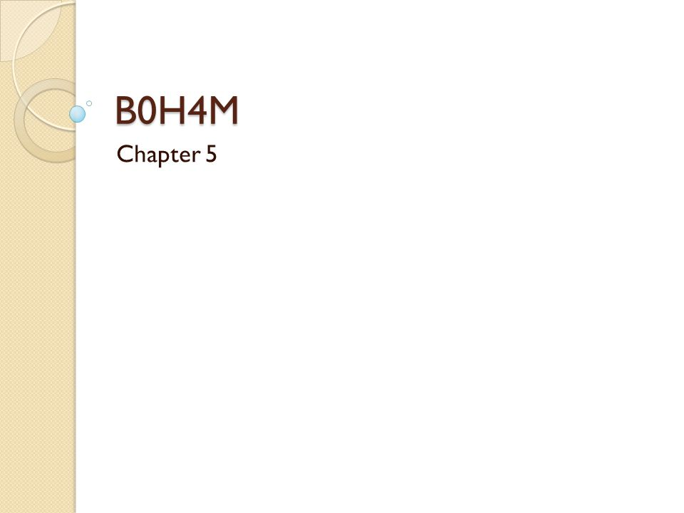 B0H4M Chapter 5