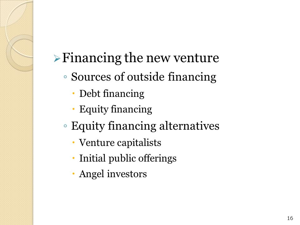Financing the new venture