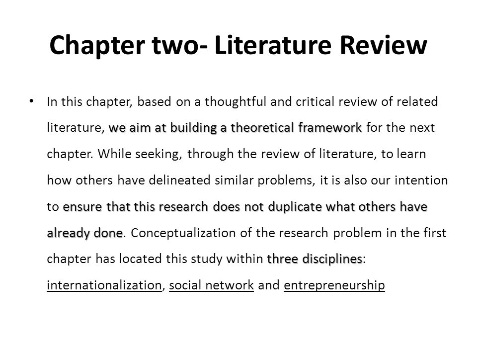 Chapter two- Literature Review